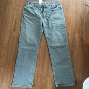 Carharrt relaxed fit grey work pants 38x34